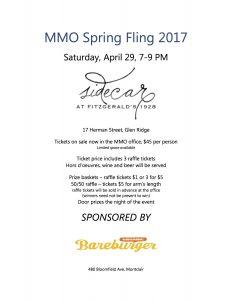 MMO Spring Fling flyer 2017